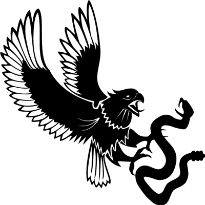 Pegatina en vinilo autoadhesivo con dibujo de águila y serpiente