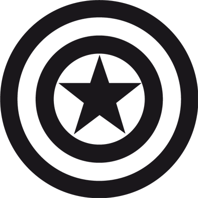Pegatina en vinilo autoadhesivo de capitan america para tuning de