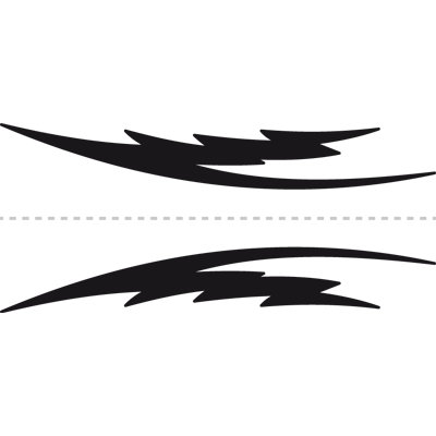Vinilos Con Diseños De Franjas Y Laterales Para Tuning De Coches Y Motos