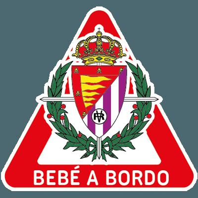 pegatina coche bebe a bordo Real Valladolid