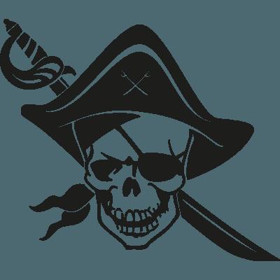 Pegatina De Calavera Pirata En Vinilo Adhesivo Para El Coche