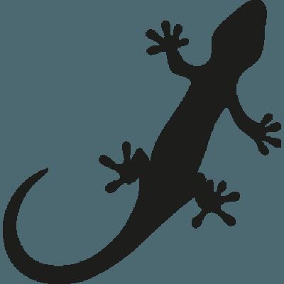 Pegatina en vinilo autoadhesivo con dibujo de lagartija - Dibujos de vinilo para paredes ...