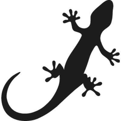 Pegatina en vinilo autoadhesivo con dibujo de lagartija for Adhesivos de pared infantiles