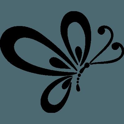 Pegatina mariposa en vinilo adhesivo para coche - Pegatinas pared infantiles disney ...