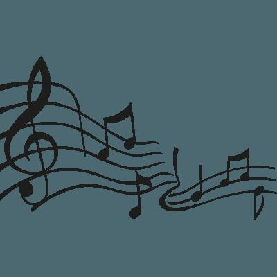 Pegatina Notas Musicales En Vinilo Adhesivo