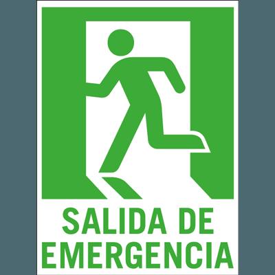 se al adhesiva de vinilo para salida de emergencia