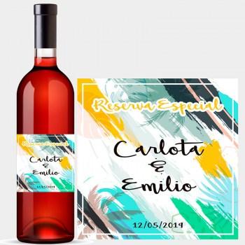 Flor de la ciudad ponerse en cuclillas nostalgia  Etiquetas de vino
