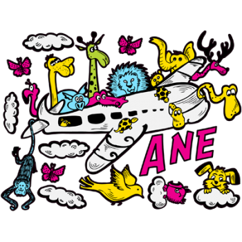 Set_pegatinas_animales_avion